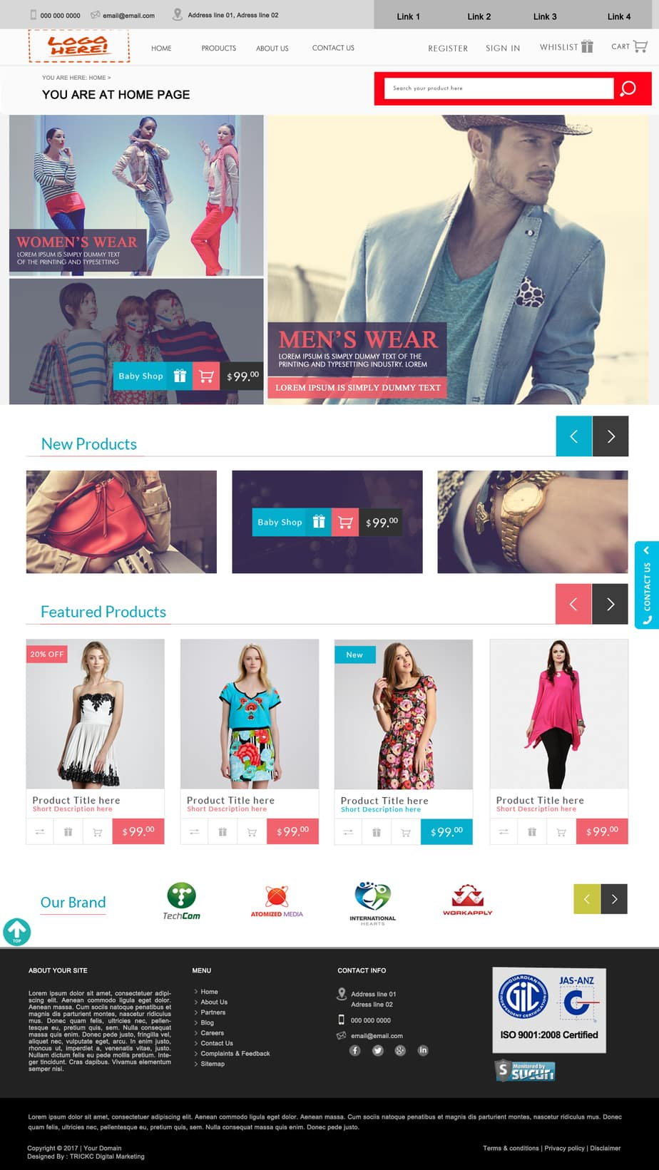 TRICKC Web Designing Samples